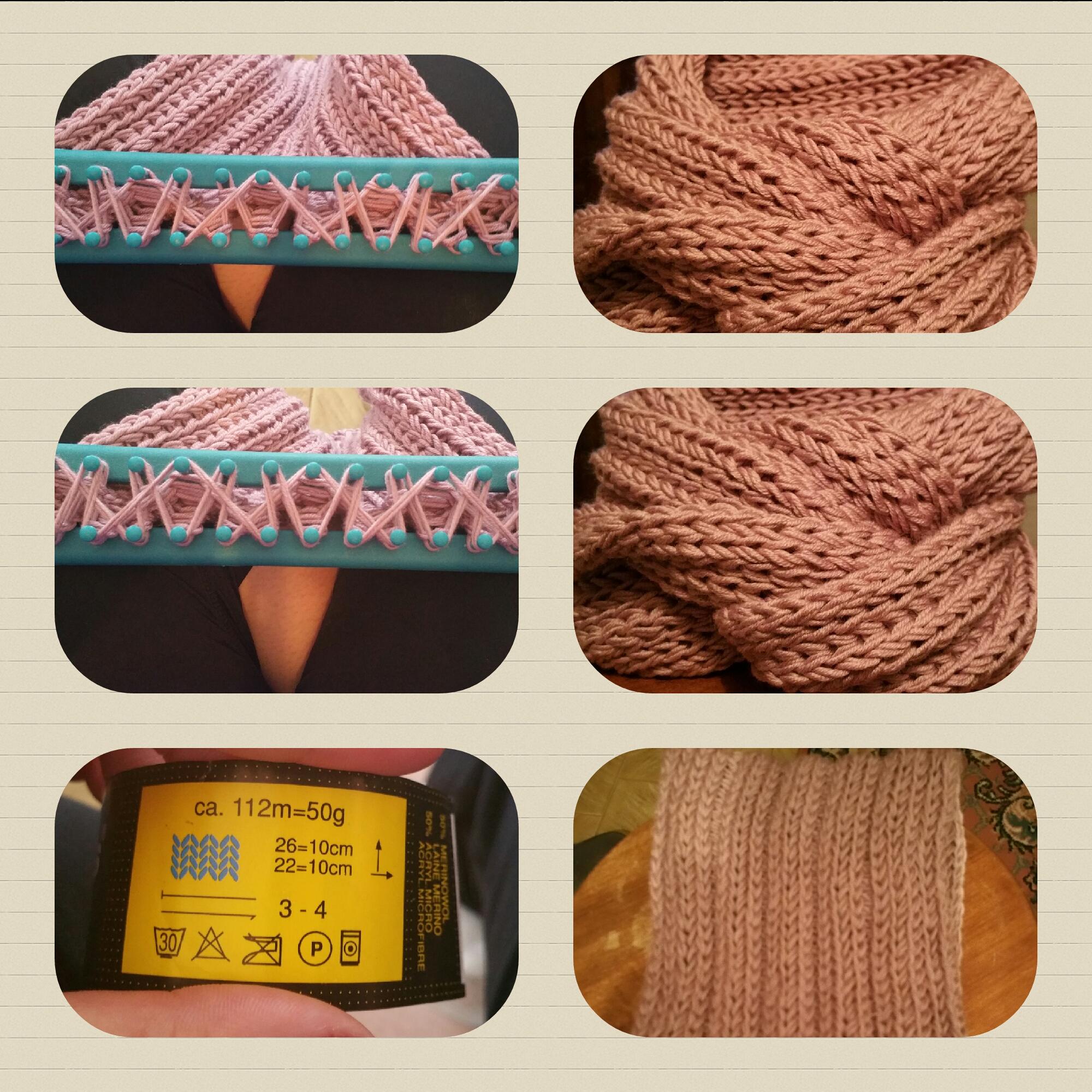 Mes tours de cou au tricotin g ant point n 1 briconolages - Les differents points au tricotin ...